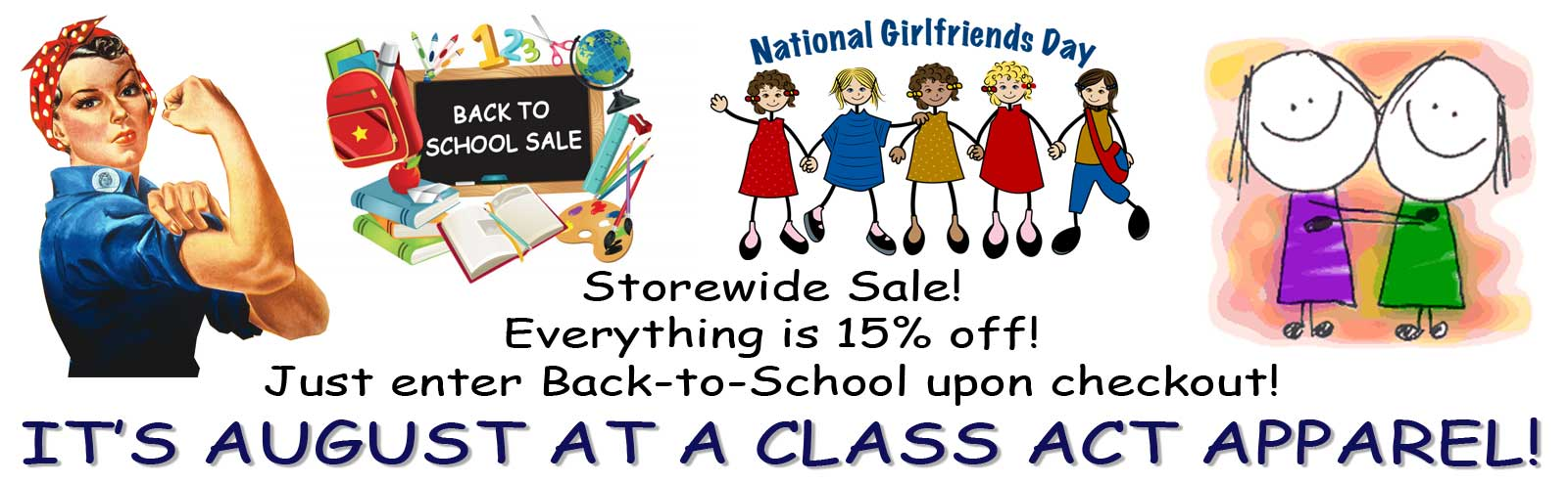 August Back-to-School Specials - 15% off