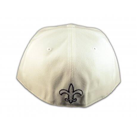 Fleur-de-lis on White Flat Brim Hip Hop Hat