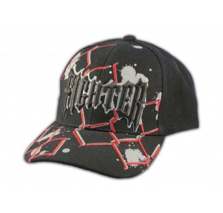 Fighter on Black Snapback Ball Cap