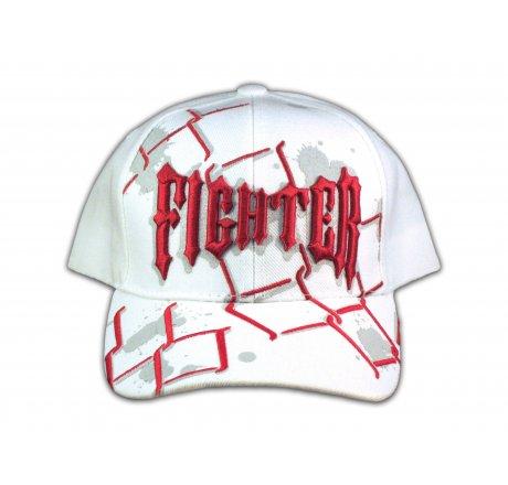 Fighter on White Snapback Ball Cap