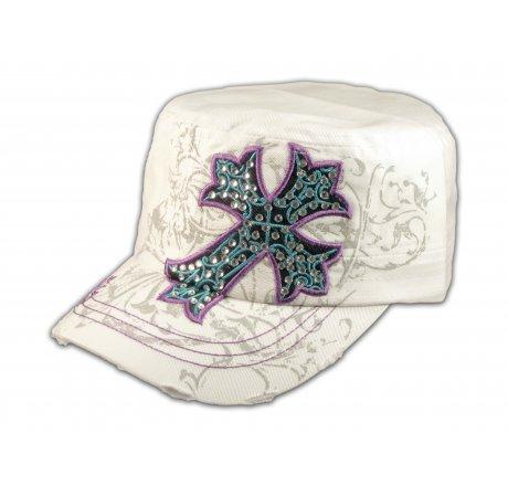Cross on White Cadet Hat