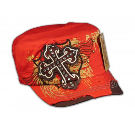Cross on Red Army Cadet Hat