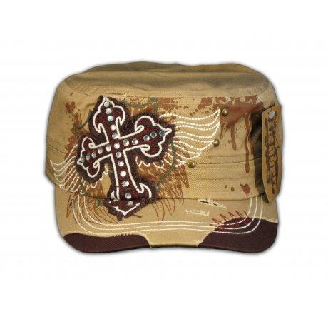 Cross on Khaki Cadet Cap