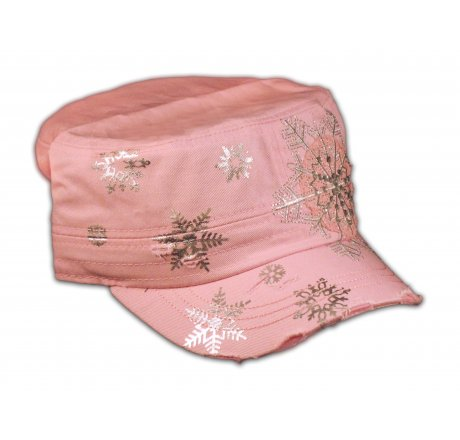 Snowflake on Pink Cadet Cap