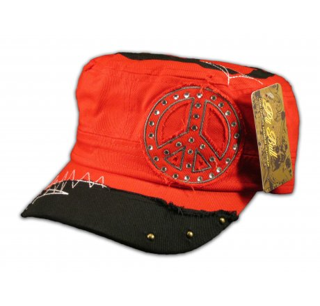 Peace Signs on Red Army Cadet Cap