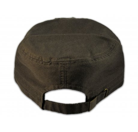 Olive Green Football Cadet Castro Cap Vintage Military Army Hat