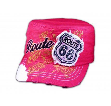 Pink Route 66 Cadet Castro Cap
