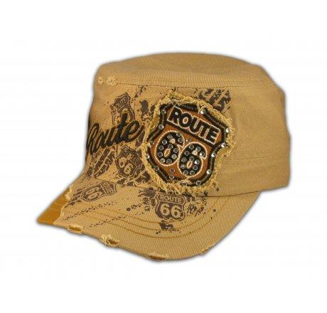 Khaki Route 66 Cadet Castro Cap