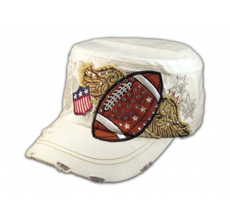 White Football Cadet Castro Cap