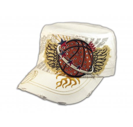 White Basketball Cadet Castro Cap