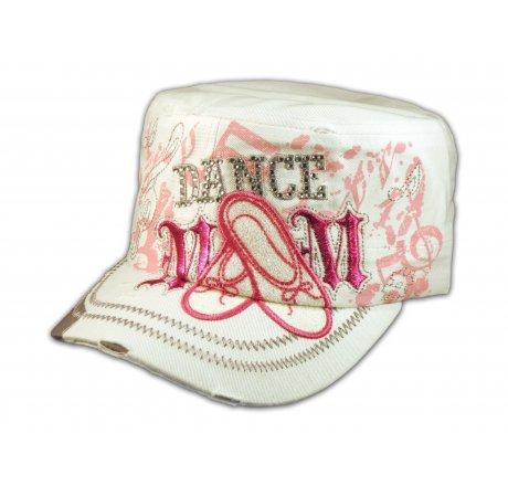 Dance Mom White Cadet Castro Hat