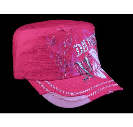 Dance Mom Pink Cadet Castro Hat Military Army Cap