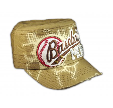 Baseball Mom on Khaki Cadet Cap
