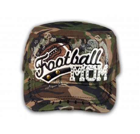 Football Mom Camouflage Army Cadet Military Castro Style Army Hat