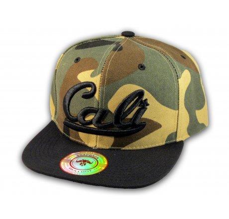 Camouflage California Republic Flat Bill Snapback Cap 3D Cali Hat