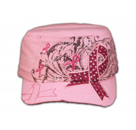 Pink Cancer Ribbon Hat