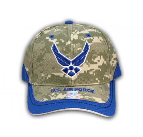 US Air Force Digital Camo-Royal Blue Hat USAF Baseball Cap
