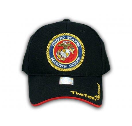 Black US Marine Corp Hat USMC Baseball Cap