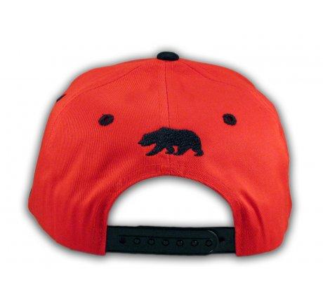 Cali California Republic 1850 Red Flat Bill Hat
