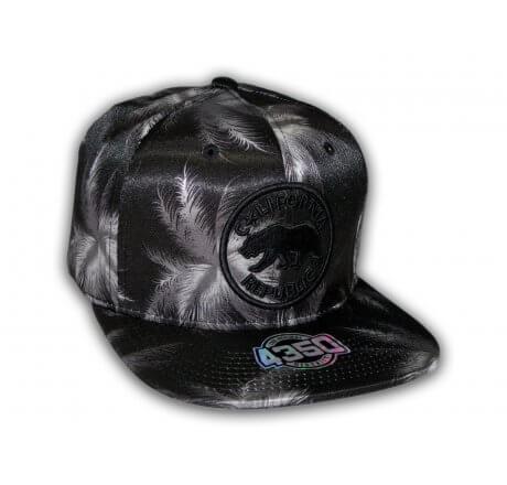 California Republic Black and Gray Snapback Hat