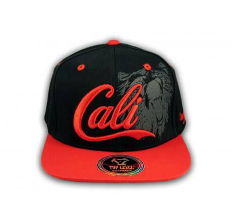 Black and Red Cali Bear Snapback Hat