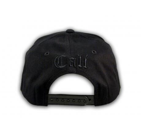Black on Black Cali Bear Snapback Hat