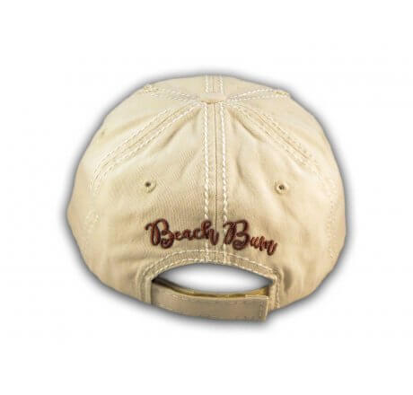 Stone Beach Bum Washed and Distressed Baseball Cap