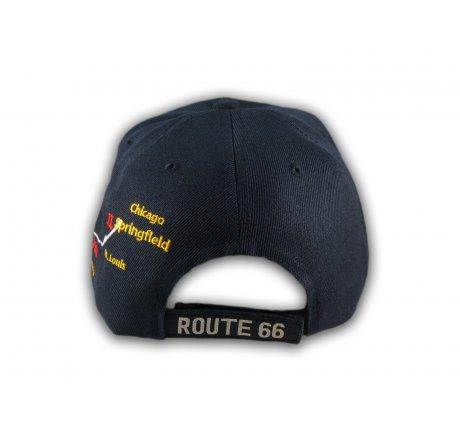 Navy Blue Route 66 Ball Cap