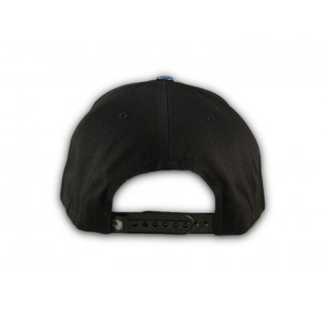 Black and Blue California Republic Snapback Hat