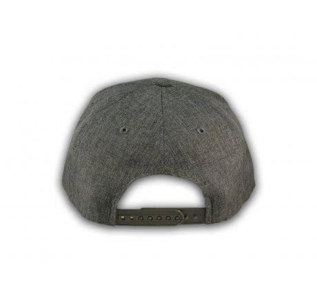 Charcoal California Republic Bear Snapback Hat