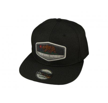 Black California Republic Bear Snapback Hat