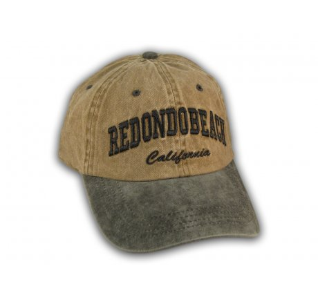 Brown and Black Redondo Beach Washed Baseball Cap