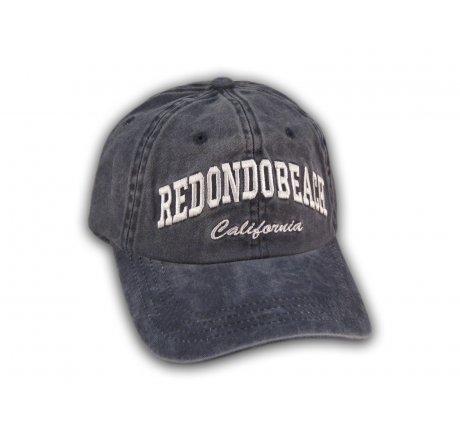 Blue Redondo Beach Washed Baseball Cap