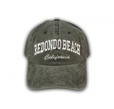 Black Redondo Beach Washed Baseball Cap