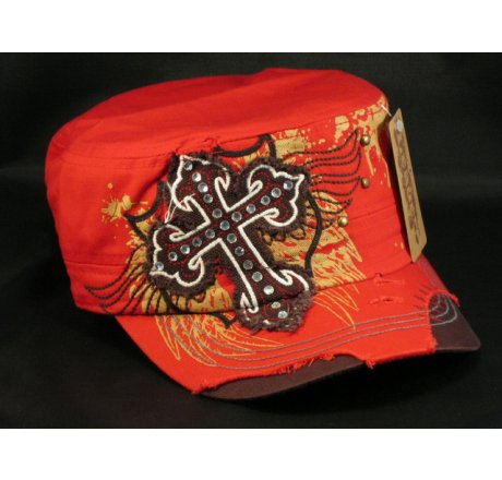 Cross on Red Army Cadet Hat Castro Military Cap