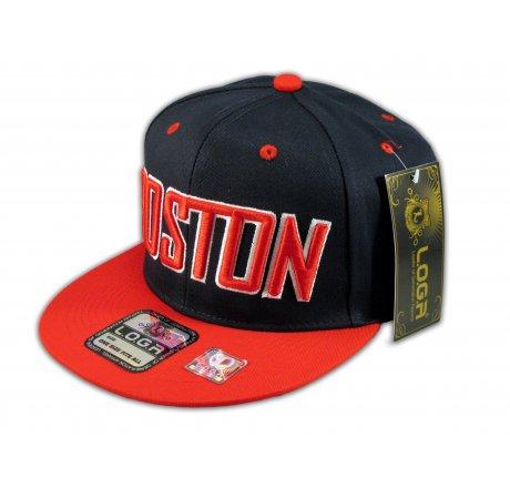 Boston Snapback Black Red Baseball Adjustable Hat Cap Flat Bill