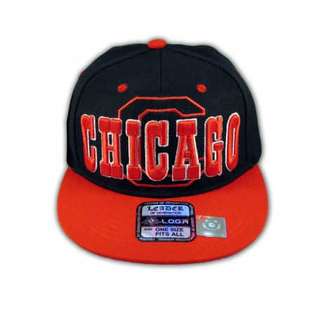 Chicago Snapback Black Red Baseball Adjustable Hat Cap Flat Bill