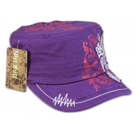 Cross on Purple Army Cadet Hat Vintage Castro Military Cap