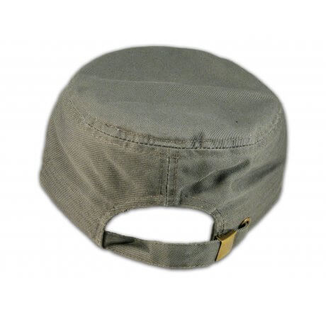 Rock Guitar on Gray Cadet Cap with Vintage Distressed Visor