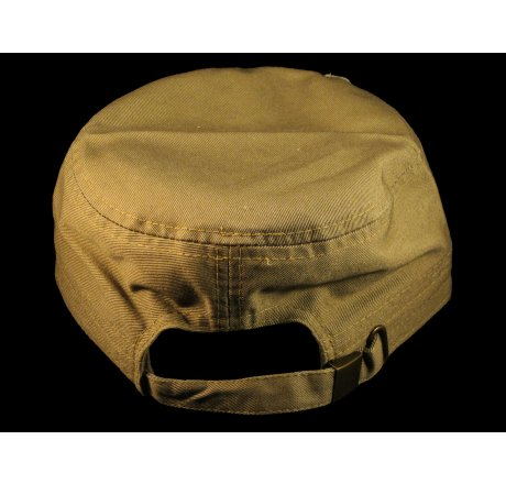 Khaki Breast Cancer Cadet Cap Distressed Military Army Vintage Hat