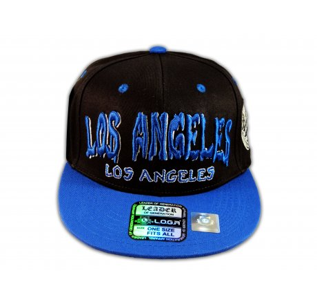 Los Angeles Snapback Black Blue Baseball Hat Cap Grenade Flat Bill