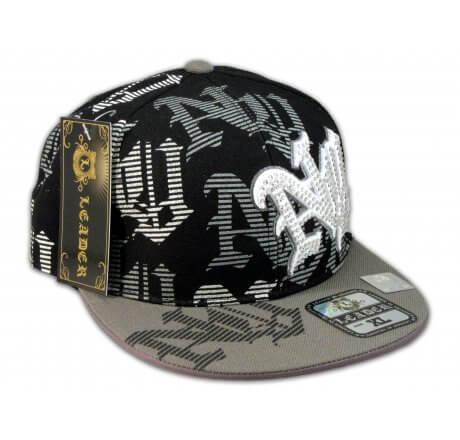 New York Black Gray Flat Brim Ball Cap Hip Hop Style Hat