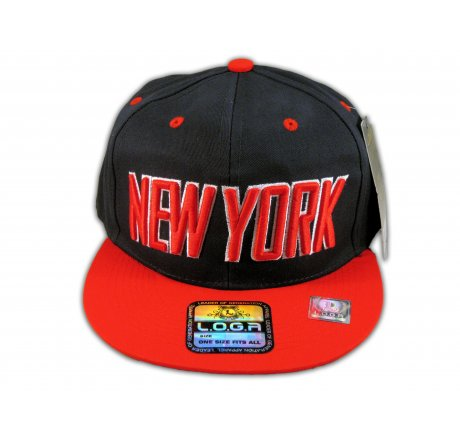 New York Snapback Black Red Baseball Adjustable Hat Cap Flat Bill