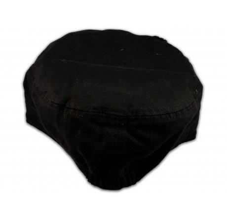 Peace Sign on Black Cadet Hat Vintage Army Cap Jewels