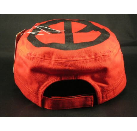 Peace Signs on Red Army Cadet Cap Vintage Castro Hat
