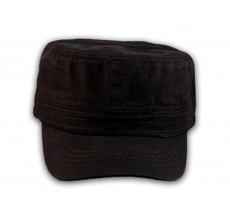 Plain Black Cadet Cap