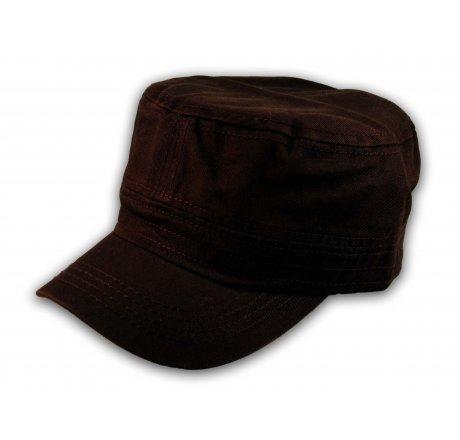 Plain Brown Cadet Cap