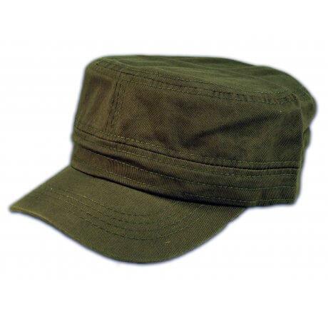 Plain Olive Green Cadet Cap