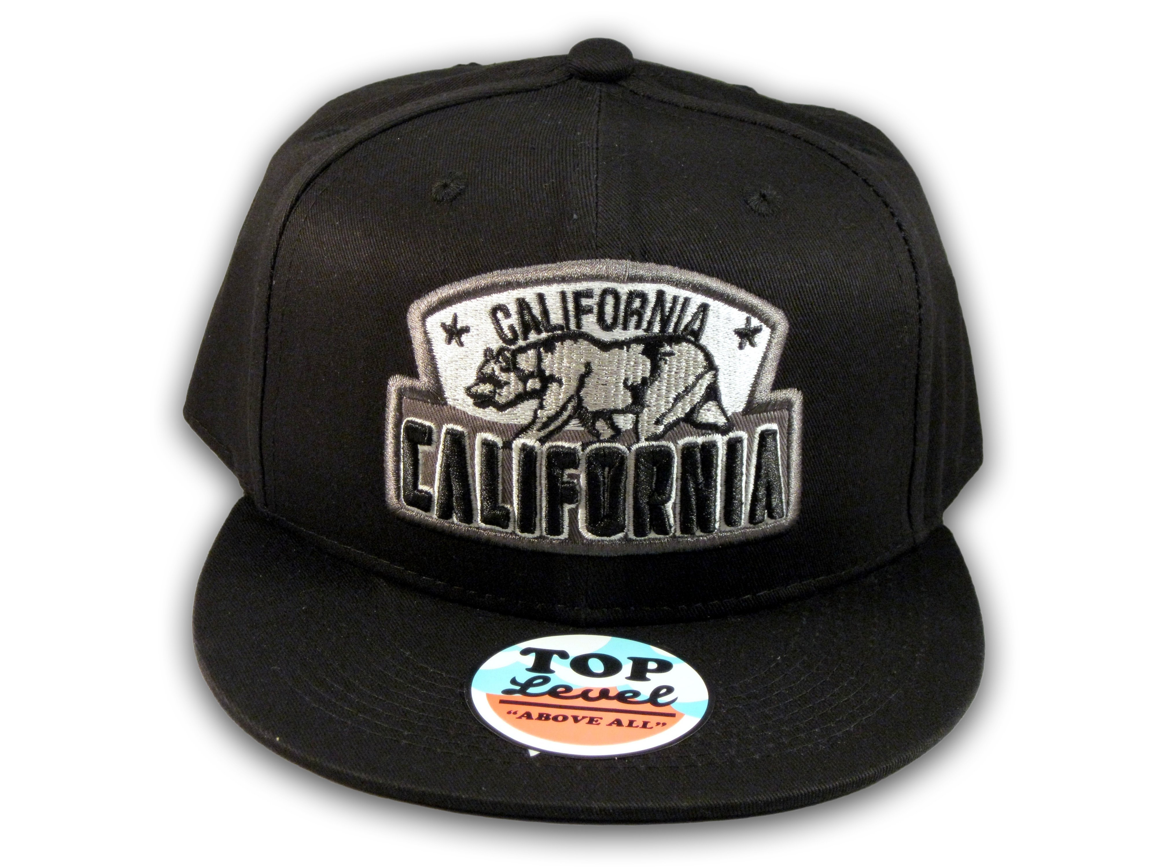 c4e47e67df6 Black California Republic Snapback Embroidered Hat 3D Cali Bear - Printed  T-Shirts