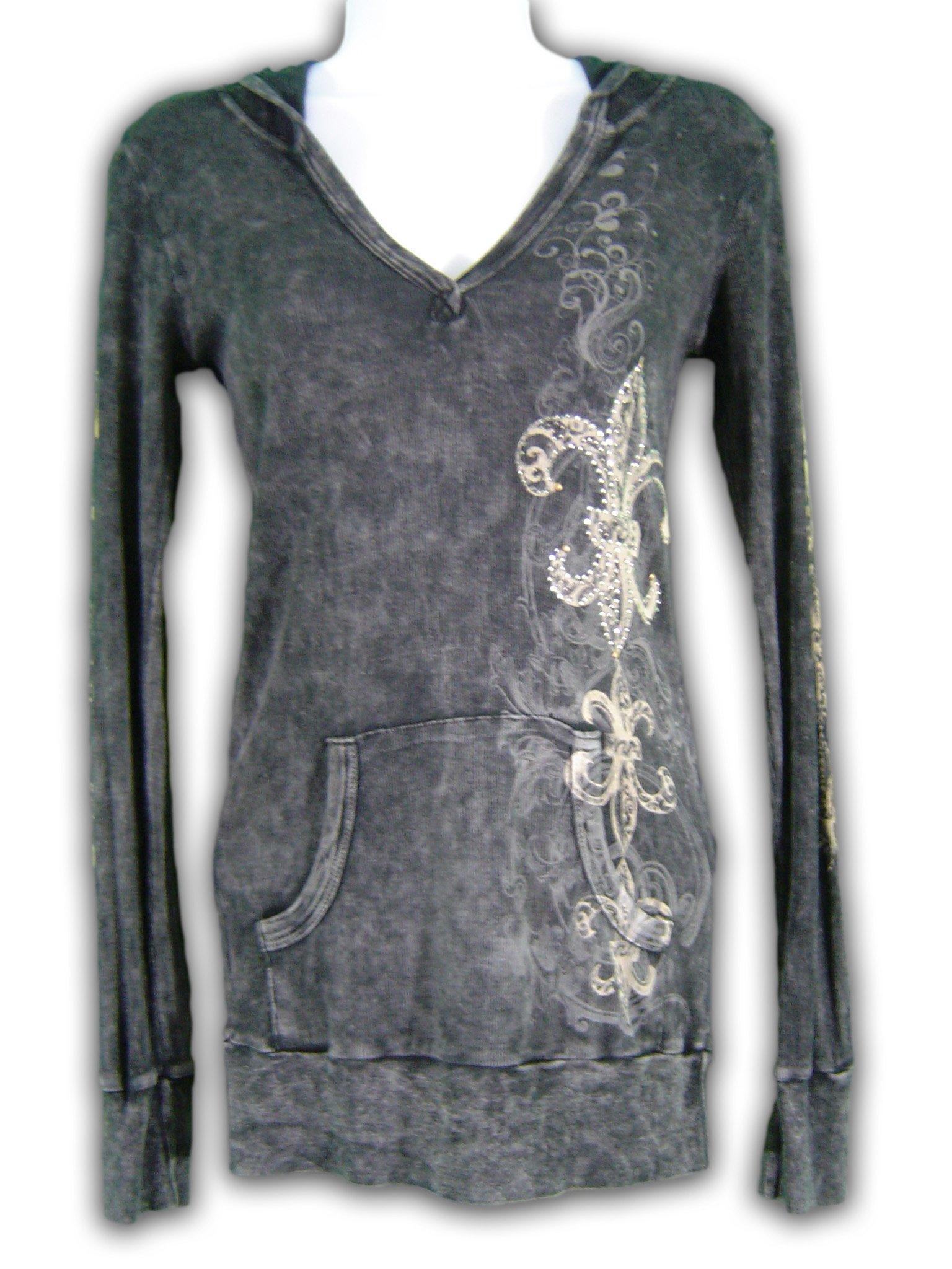 Thermal Hoodie Long Sleeve All Over Print /& Jewel